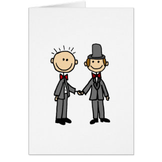 Funny Grooms Gay Marriage Cartoon Card