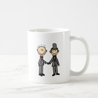 Funny Grooms Gay Marriage Cartoon Coffee Mug