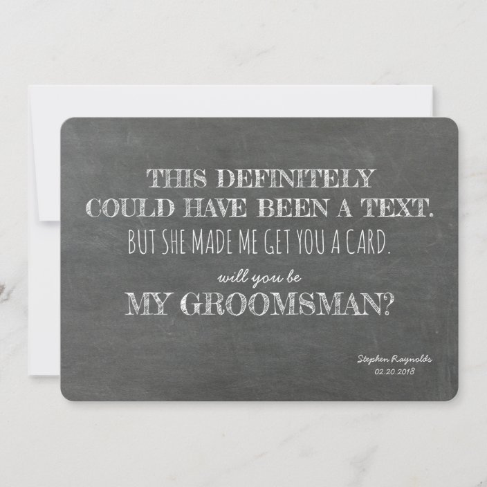 definition Will You Be My Groomsman Card groomsman Card Will You be My Groomsman
