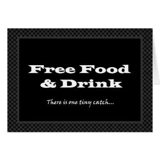 Funny Groomsman Wedding Invitation Free Food
