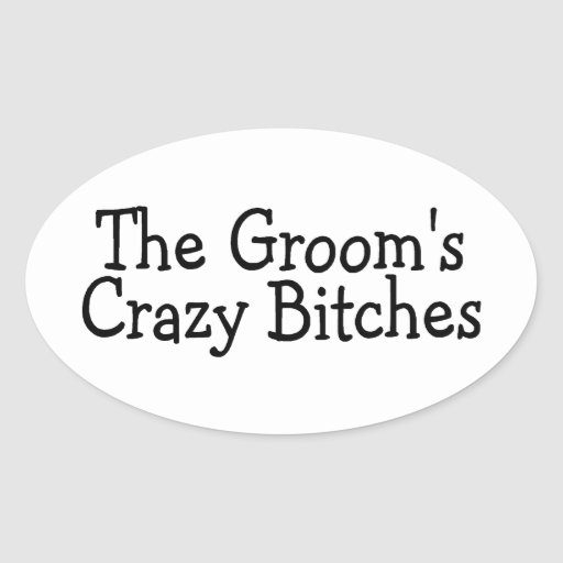 Funny Groomsmen Oval Stickers