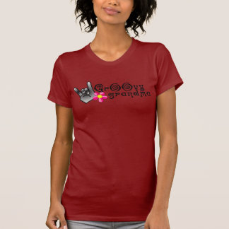 Funny Groovy Grandma Rocks Out T-Shirt