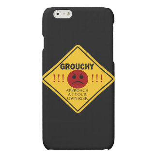 Funny Grouchy. Approach At Your Own Risk Matte iPhone 6 Case