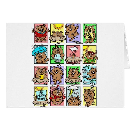 Funny Groundhog Day Cartoons Card