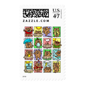 Funny Groundhog Day Cartoons Postage