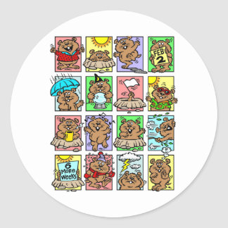 Funny Groundhog Day Cartoons Stickers