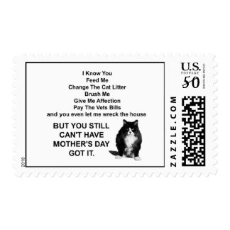 Funny Grumpy Cat Mother's Day Postal Stamps