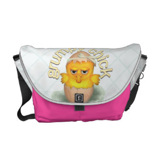 Funny Grumpy Chick Messenger Bag