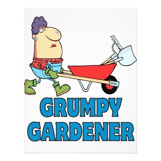 funny grumpy gardener lady flyer