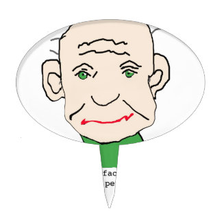 Funny Grumpy Old Man Cake Topper