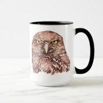 Funny Grumpy Owl, Go Away I'm Reading, Mug