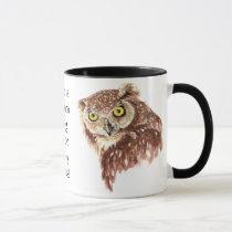 Funny Grumpy Owl No such thing, too many Books Mug