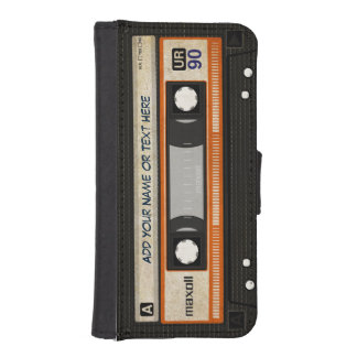 Funny Grunge 80s Retro Music Cassette Tape iPhone SE/5/5s Wallet Case