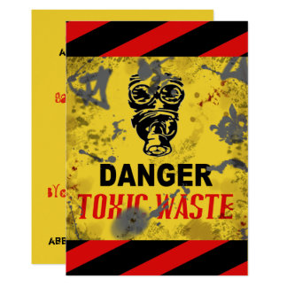 Funny Grunge Toxic Waste Halloween Invitation