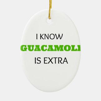 Funny Guacamole EXTRA Ceramic Ornament
