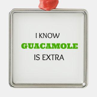 Funny Guacamole EXTRA Metal Ornament
