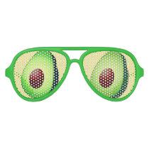 Funny guacamole green avocado fruit party shades
