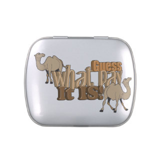 Funny Guess What Day it is Camel Jelly Belly Tins