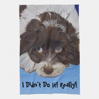 Funny Guilty Cocker Spaniel Hand Towels