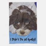 Funny Guilty Cocker Spaniel Kitchen Towels