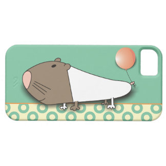 Funny Guinea Pig with Balloon iPhone 5 Cases