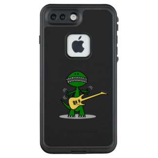 Funny Guitar Playing T-Rex LifeProof FRĒ iPhone 7 Plus Case
