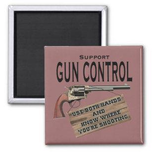 2ea956311 Funny Gun Control Magnet #2