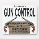 Funny Gun Control Mouse Pad #1 mousepad