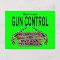 Funny Gun Control Postcard #1 postcard