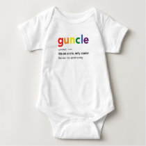 Funny Guncle Definition Print Baby Bodysuit