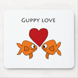 Funny Guppy Love Design Mouse Pad