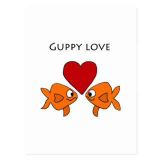 Funny Guppy Love Design Postcard