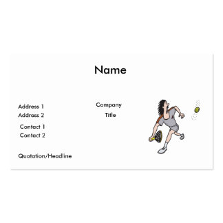 funny guy playing tennis business card template
