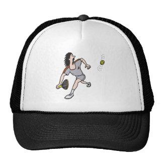 funny guy playing tennis mesh hats