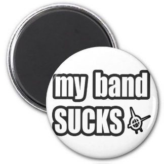 Funny guys girls Punk rock music band humor Magnet
