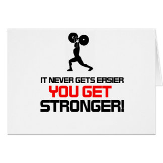 Funny Gym quote design Card