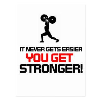 Funny Gym quote design Postcard