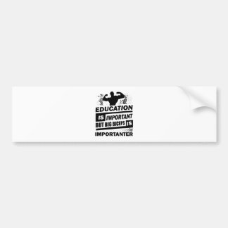 Funny Gym Sayings Bumper Sticker
