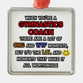 Funny Gymnastics Coach ... OMG WTF LOL Christmas Tree Ornament