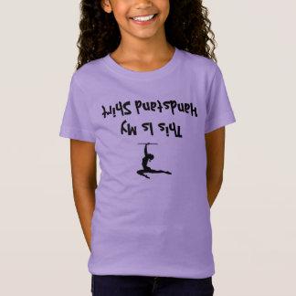 Funny Gymnastics Girl Shirt for upside down people