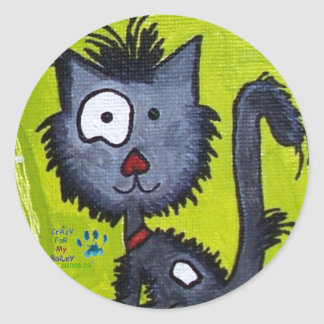 FuNNy HaiR BaiLeY Classic Round Sticker