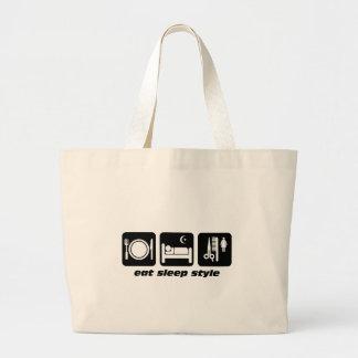 Funny hair stylist jumbo tote bag