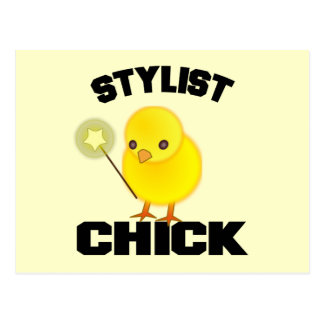 Funny Hairstylist Chick Postcard
