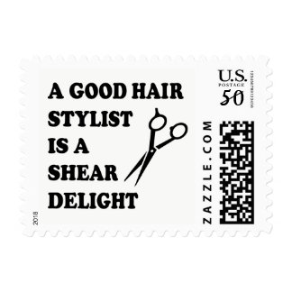Funny Hairstylist Hairdresser Barber Haircut Quote Postage
