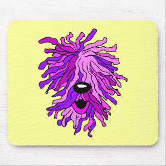 Funny hairy dog mouse pad