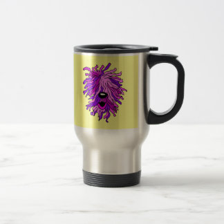 Funny hairy dog travel mug