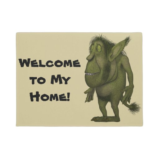 Funny Hairy Ogre Design Doormat
