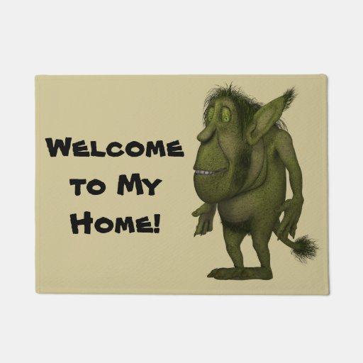 Funny Hairy Ogre Design Doormat