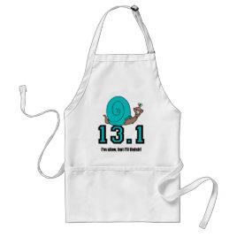 Funny half marathon adult apron