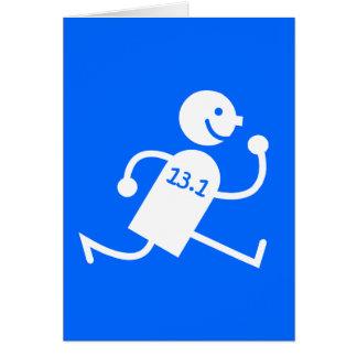 Funny half marathon greeting card